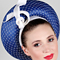 Louise Macdonald Milliner's 2017 collection for Hugo Boss Melbourne - Fashion hat Blue Venus