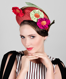 Fashion hat Bill and Ben, a design by Melbourne milliner Louise Macdonald