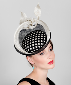 Fashion hat Saturn Return, a design by Melbourne milliner Louise Macdonald