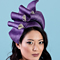 Louise Macdonald Milliner's 2018 collection for Hugo Boss Melbourne - Fashion hat Josephine in Violet and White