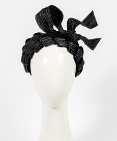 Louise Macdonald Milliner's 2019 collection for Hugo Boss (Melbourne, Australia) - designer hat Black Loveday Bandeau