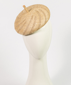 Louise Macdonald Milliner's 2019 collection for Hugo Boss (Melbourne, Australia) - designer hat Natural Bergamo Beret