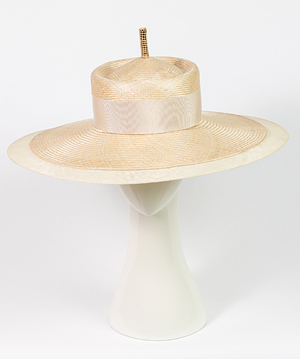 Fashion hat Natural Como, a design by Melbourne milliner Louise Macdonald