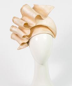 Louise Macdonald Milliner's 2019 collection for Hugo Boss (Melbourne, Australia) - designer hat Natural Josephine
