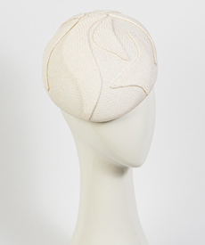 Louise Macdonald Milliner's 2019 collection for Hugo Boss (Melbourne, Australia) - designer hat White Beret