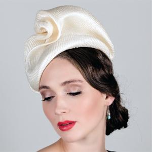 designer hat (freeform parisisal sculpted headpiece) by Louise Macdonald Milliner (Melbourne, Australia)