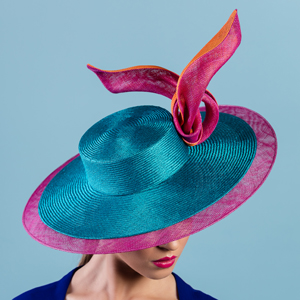 designer hat (sinamay brim extension) by Louise Macdonald Milliner (Melbourne, Australia)