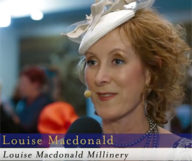Melbourne milliner Louise Macdonald attends the Caulfield Millinery Evening 2012