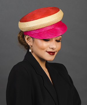 Louise Macdonald Milliner is thrilled to launch the Buntal Caps and Berets Deluxe Course, an online millinery workshop in partnership with Hat Academy
