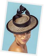 designer hat (buntal boater) by Louise Macdonald Milliner (Melbourne, Australia)