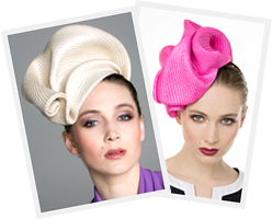 Live streaming millinery course with Louise Macdonald: Freeform with Buntal Mats