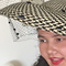 When creating buntal straw hats, shapes are manipulated by hand, without expensive equipment required, resulting in classic and contemporary headpieces (March 2017)