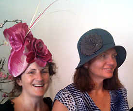 Maria, a millinery student from Ireland, made this silk abaca and leather hat in the Millinery Summer School 2014, then won the Millinery Fashion Award with her creation at the Hobart Races