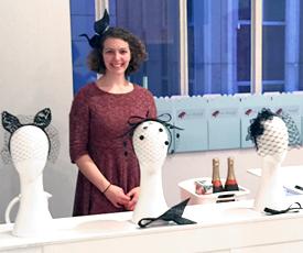 Lauren Ritchie preparing to teach the birdcage veil course at Louise Macdonald's Melbourne studio