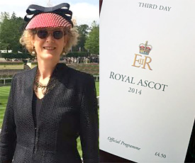 Melbourne milliner Louise Macdonald attended the Royal Ascot in England in June 2014
