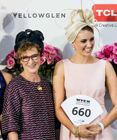 Louise Macdonald Milliner's hat was one of the ten finalists in the Professional Millinery Award on Oaks Day 2015 at Flemington
