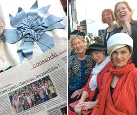 Melbourne milliner Louise Macdonald attends Festivales du Chapeau in Caussade (France)