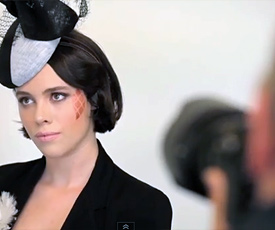 Take a behind-the-scenes look at Louise Macdonald's 2014-2015 fashion collection; the milliner worked with photographer Chris Crossley, make up artist Maren Holm and models Morgane Hunt and Laura Macdonald (pictured) at her Melbourne studio, while videographer Winny Toh captured all the action during the photo shoot