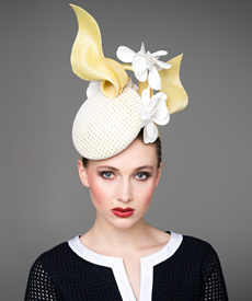 Melbourne Cup keeps Louise Macdonald busy for most of the year. A collection of hats designed exclusively for Hugo Boss were sold at its Melbourne stores again in 2014, and Louise's own range and made to measure hats were available from her Melbourne studio and this website