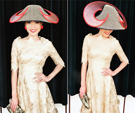 Louise Macdonald's hat made into the Fashions on the Field finals at Hobart Cup