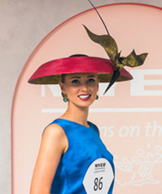 Fashion hat designed by Melbourne milliner Louise Macdonald among the top ten finalists in the Oaks Day Millinery Award at Flemington 2017