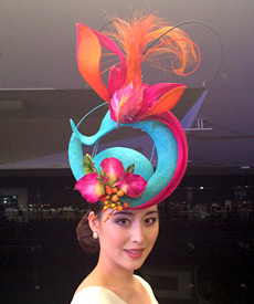 This spectacular fashion hat by Louise Macdonald Milliner can be yours! Simply follow the designer on Instagram, like the photo above and be in the draw to win this gorgeous headpiece (worth $950)