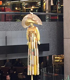 Louise Macdonald Milliner was commissioned to make a giant designer hat for the Daydream exhibitions curated by Virginia Dowser as part of Melbourne Fashion Week 2019 (August 2019)