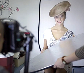 Professional millinery photoshoot in Melbourne